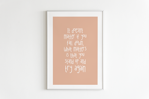 What Matters Print