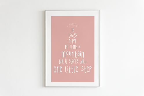 One Little Step Print