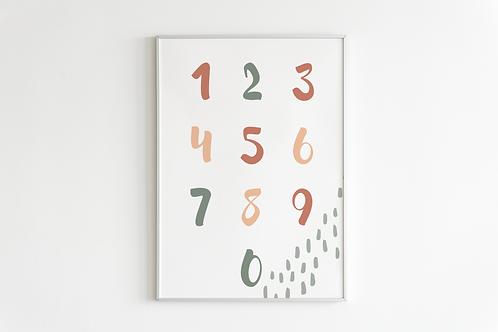 Cute Number Print