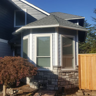 Before and after photos of t1-11 reside using James Hardie siding products ,siding , shake, trim, belly bands