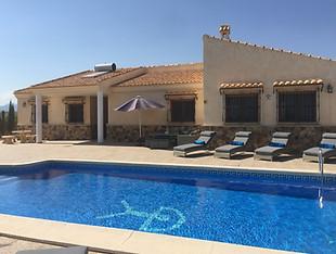 View towards villa