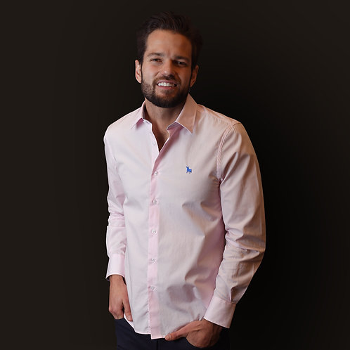 Camisa Rosa Lisa