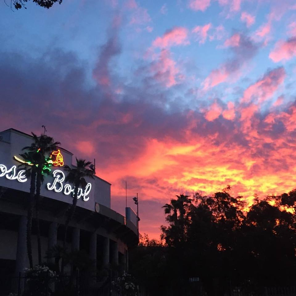 Rose bowl morning sunrise