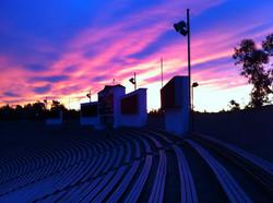 Sunrise at the stadium