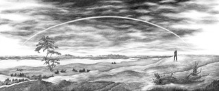 The Lost Landscape with Rainbow (based on Caspar David Friedrich)