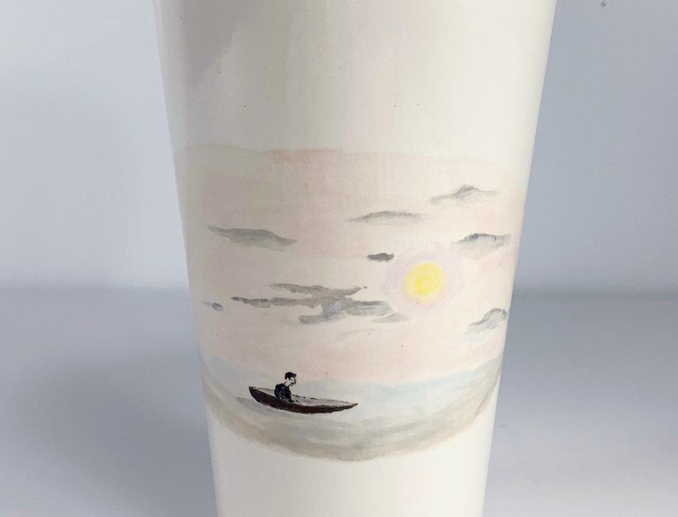 Lone Canoe Guy Mug/Vessel