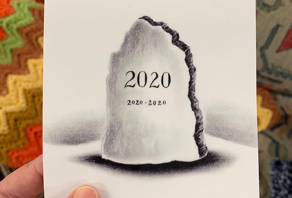 2020 Headstone Sticker