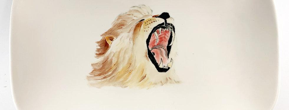 Yawning Lion Platter