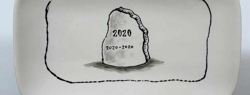 Small 2020 Headstone Platter