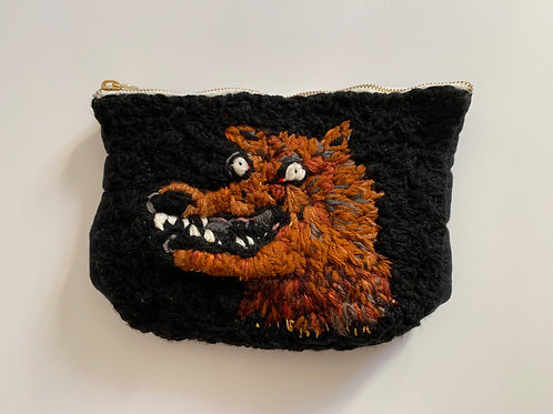 Woven Angry Wolf Handbag