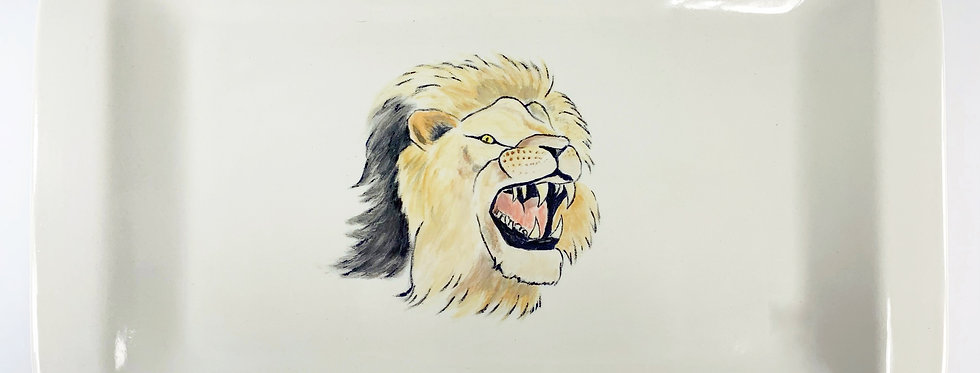 Angry Lion Platter