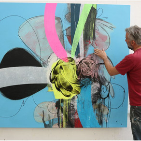 Simon Williams Gestural Abstraction with Cartoons and Graffiti