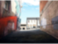 Alleyway off Police St, Dunedin, oil on