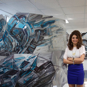 Zahra Nazari Explores Identity with Architectonic Paintings