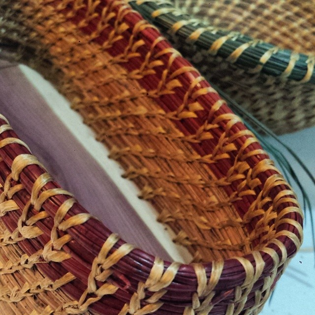 I'm gearing up for a workshop on May 14_ introduction to pine needle basketry