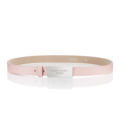 Henry Daniel Roma Pink Leather Belt