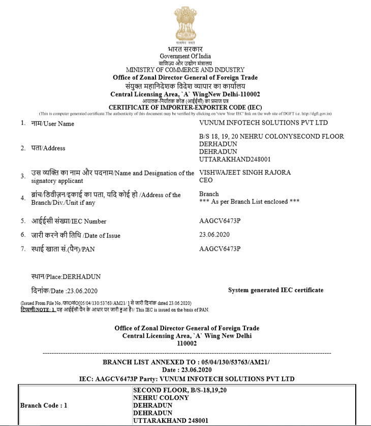 Official IEC Certificate