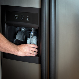 Ice maker and water dispenser in the doo