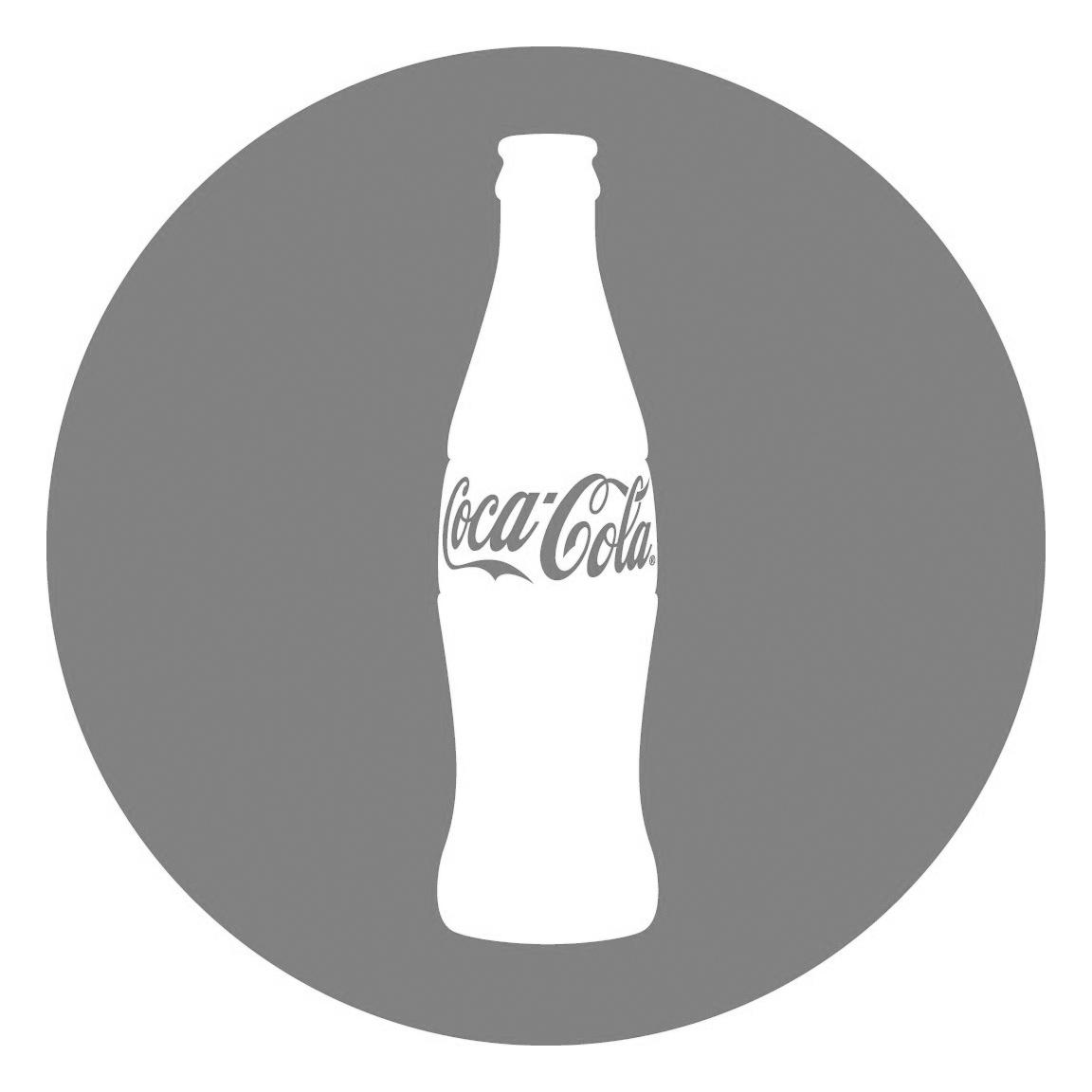 coca cola logo bw