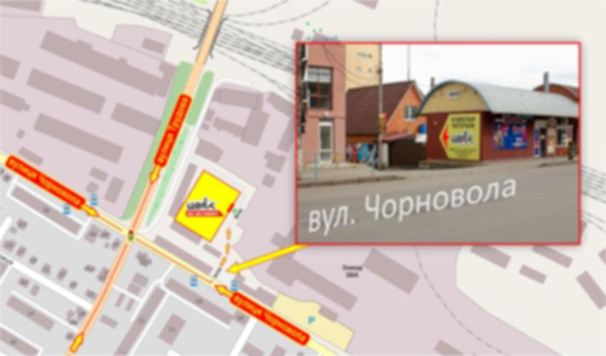 Карта розміщення магазину Цвях