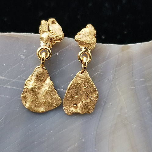Alaskan Gold Nugget Dangle Earrings