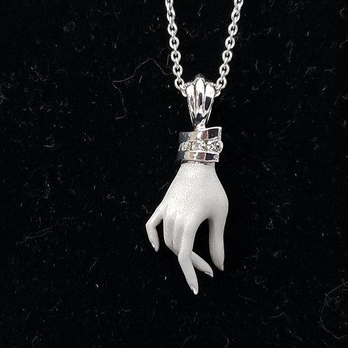 Hand Pendant with Diamond Cuff