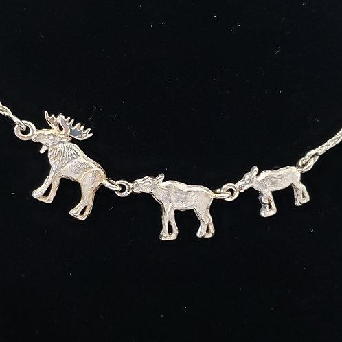Sterling Silver Moose Pendant