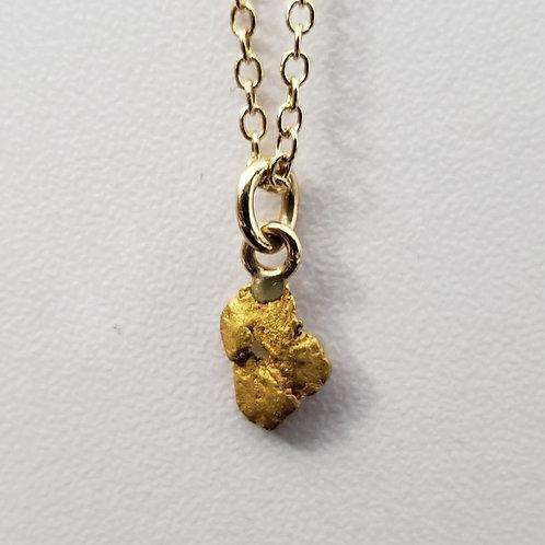 Natural Alaskan Gold Nugget Pendant