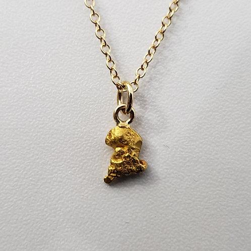 Natural Alaskan Gold Nugget Pendand