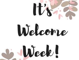 Welcome Week!!!