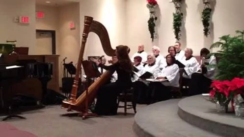 Harp music with choir