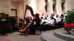 Harp music with choir
