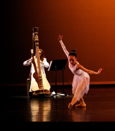 Harp and dancer