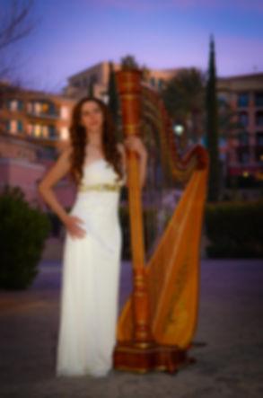 Emiy Montoya Barnes, harpist
