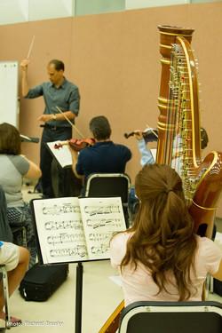 Harp at rehearsal