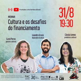 Webinar Cultura e os desafios do financiamento
