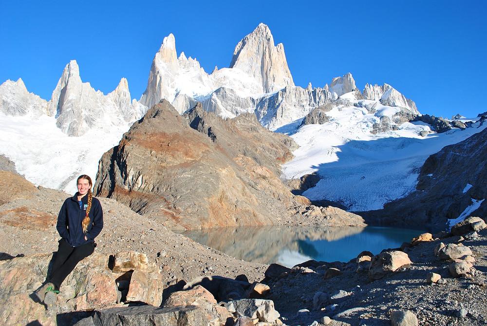 hiker at patagonia