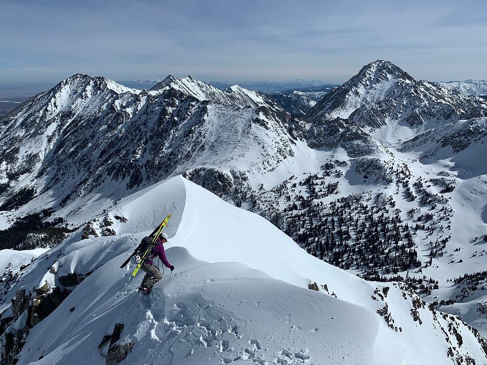 backcountry ski in spanish peaks