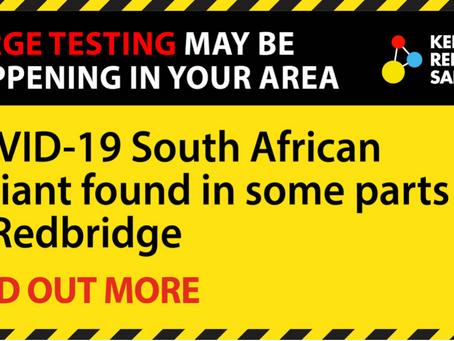 Surge testing campaigns under way in Redbridge