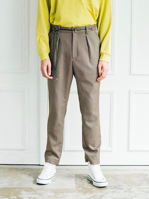 Drawstring Tapered Slacks