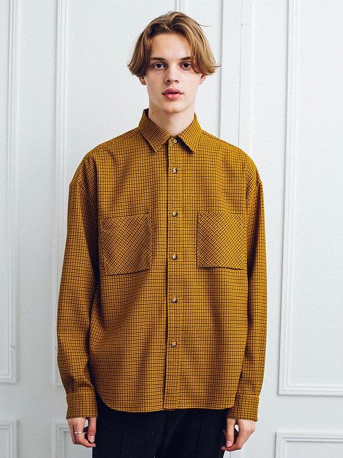 W Pocket Oversize Check Shirt
