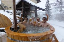 Le bain norvégien en hiver