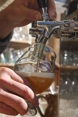 La bière locale à la pression