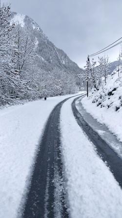La route de Saint-Paul en hiver