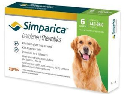 Simparica 44-88 pounds 12-month supply