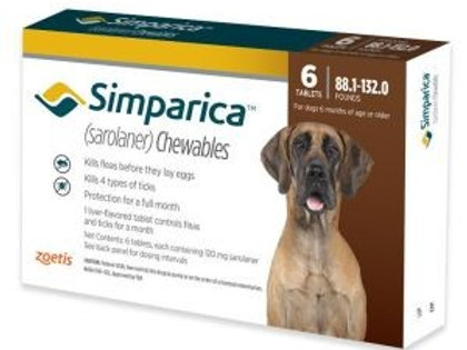 Simparica 88-132 pounds 6-month supply