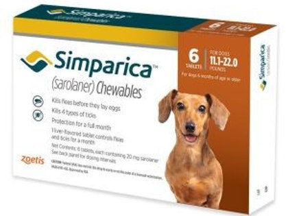 Simparica 11-22 pounds 6-month supply