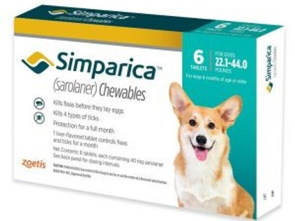 Simparica 22-44 pounds 6-month supply