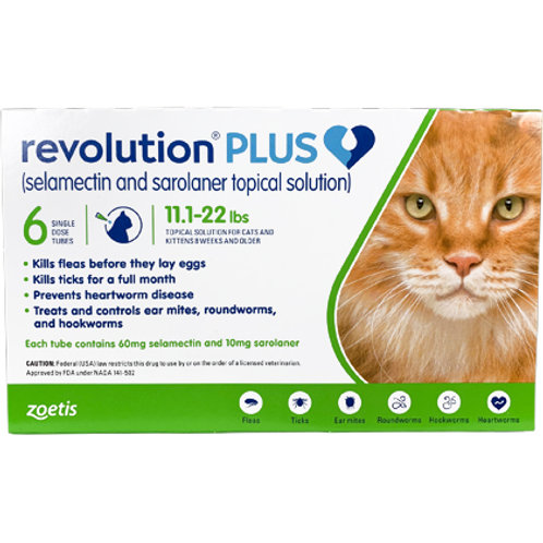 Revolution+ 11.1-22 pounds 12-month supply