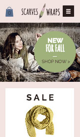 Fashion & Accessories website templates – Scarf Shop